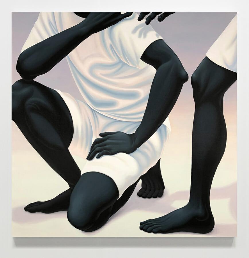 Alex Gardner, deux personnages dont un est accroupis tandis que l'on ne voit qu'une jambe du second.