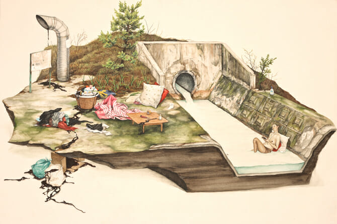 """ An old Midday "" oeuvre de Lee Jinju datant de 2011"
