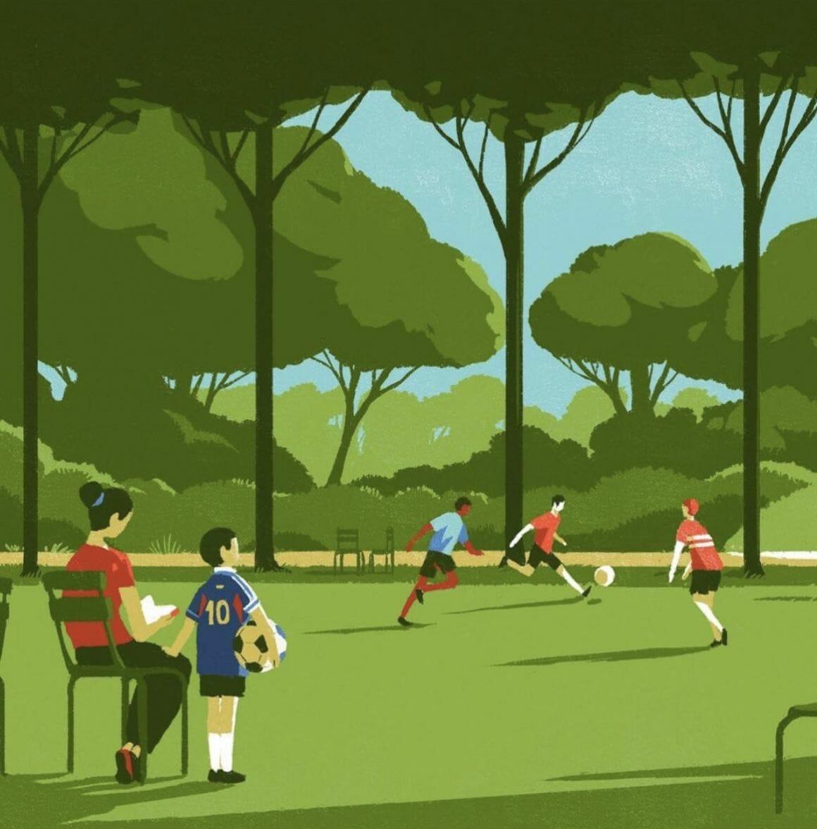 Foot au parc