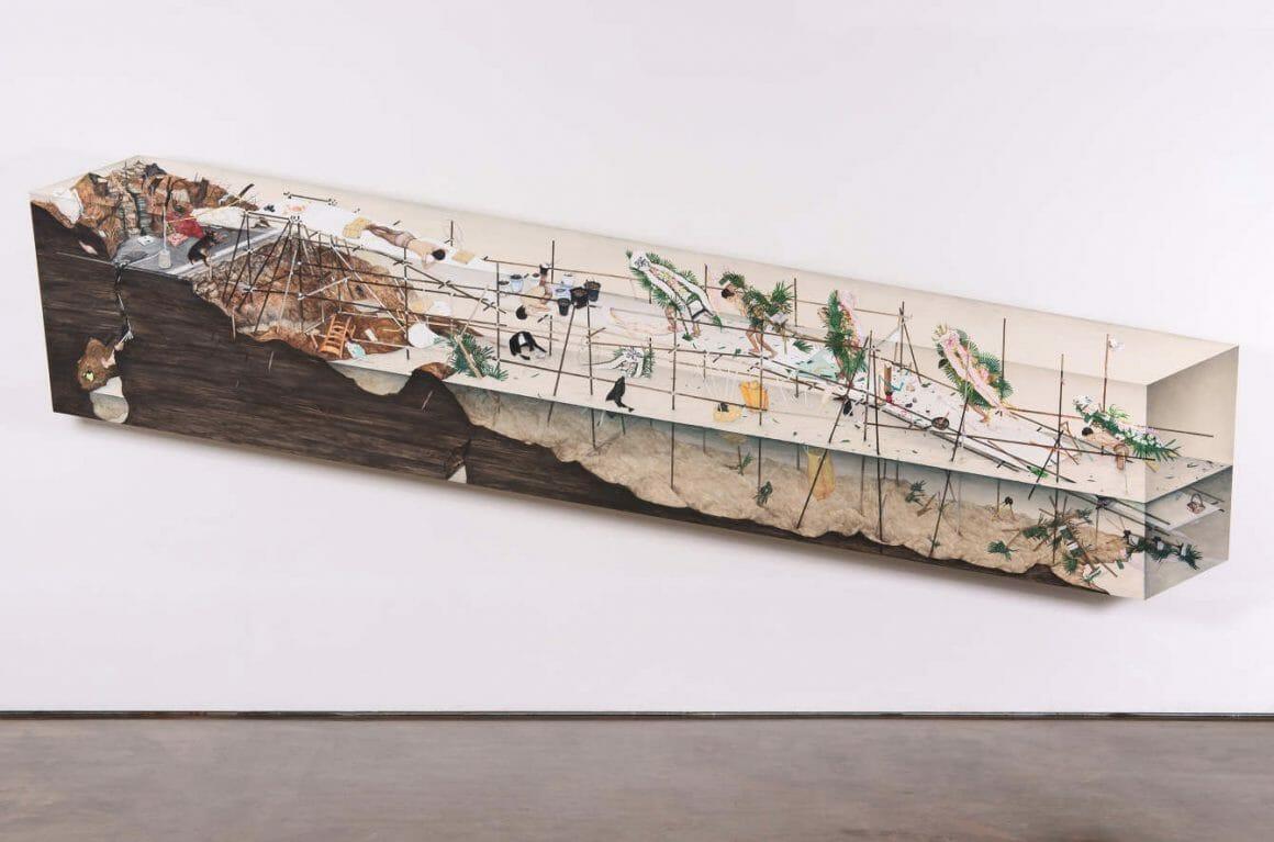 """Parmi les travaux les plus récents de Lee Jinju, ce dessin intitulé """" The Lowland """" a été réalisé en 2017."""