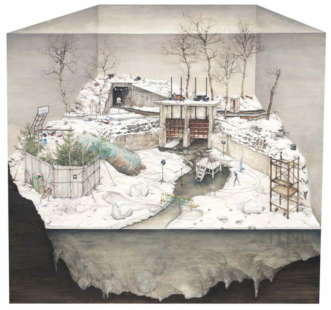 """ Layers of the Daytime "" de Lee Jinju. L'oeuvre date de 2014"
