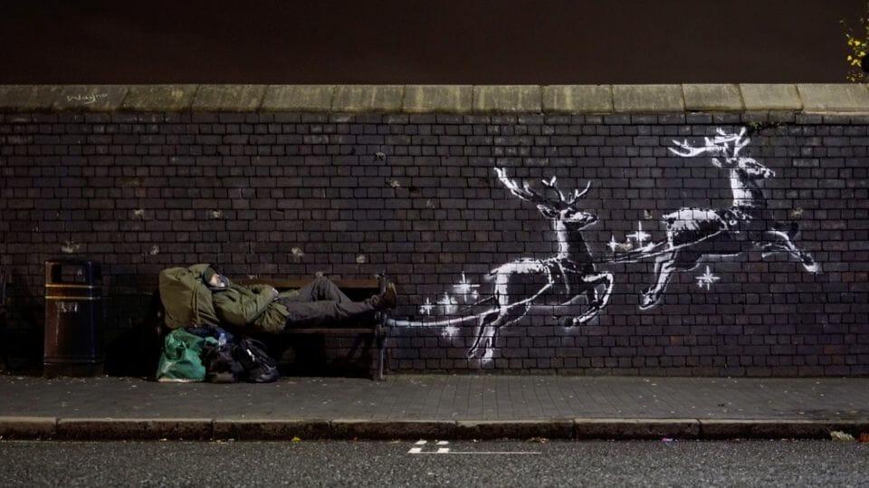 la dernière oeuvre de Banksy