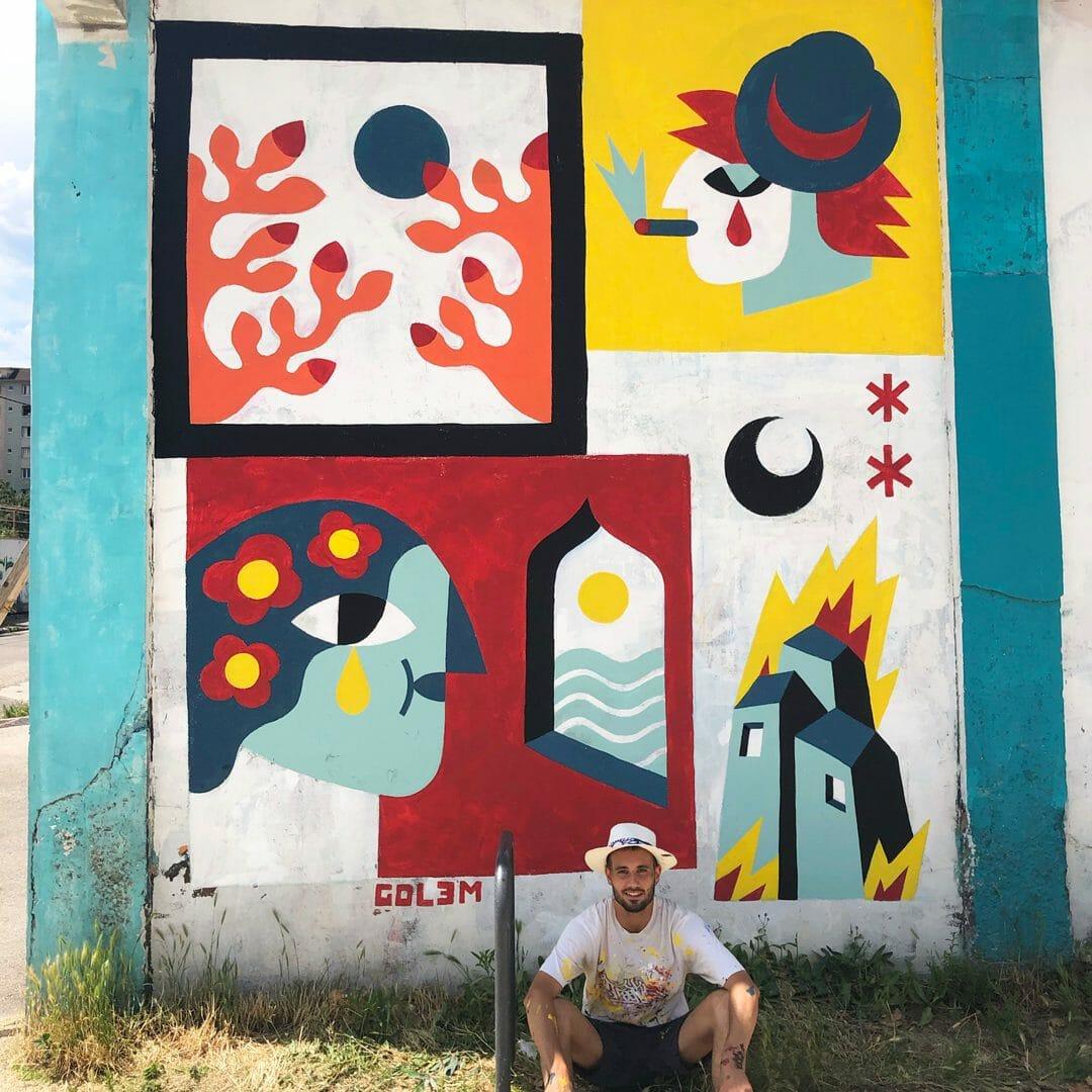 street art par l'artiste français gol3m