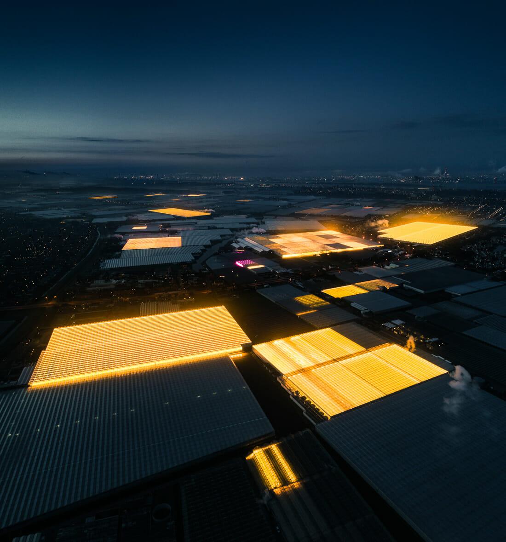 photo aérienne d'un complexe néerlandais