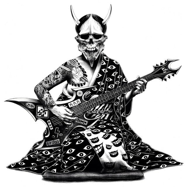 Yakuza et guitare
