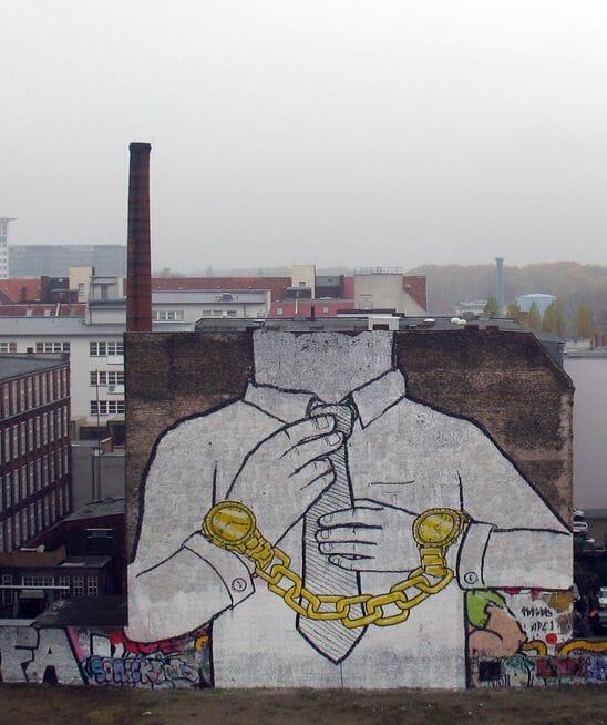 Peinture murale de l'artiste de rue Blu