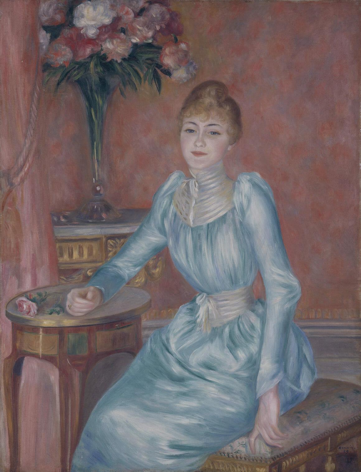 Portrait de Madame de Bonnières par Auguste Renoir.