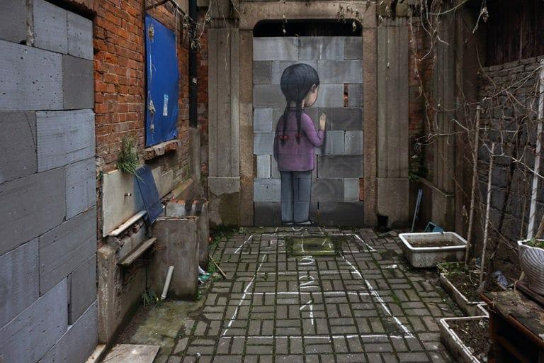 graffiti réalisé par l'artiste français Julien Malland alias Seth