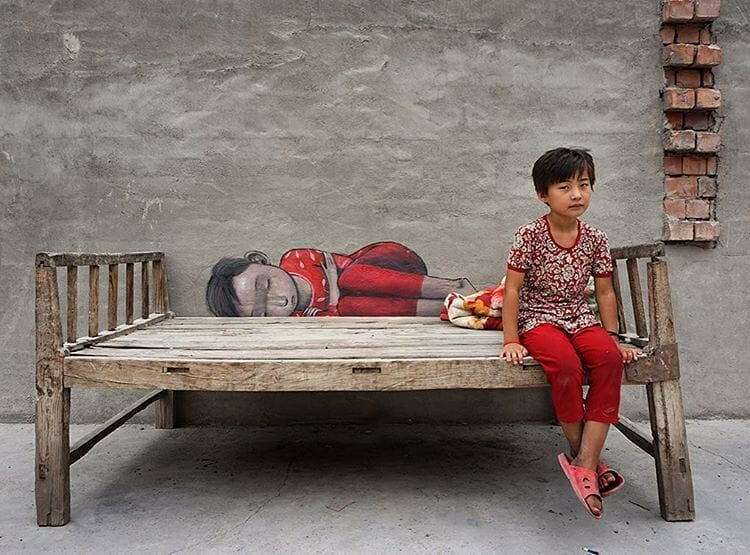 street art en asie réalisé par l'artiste Seth Globepainter