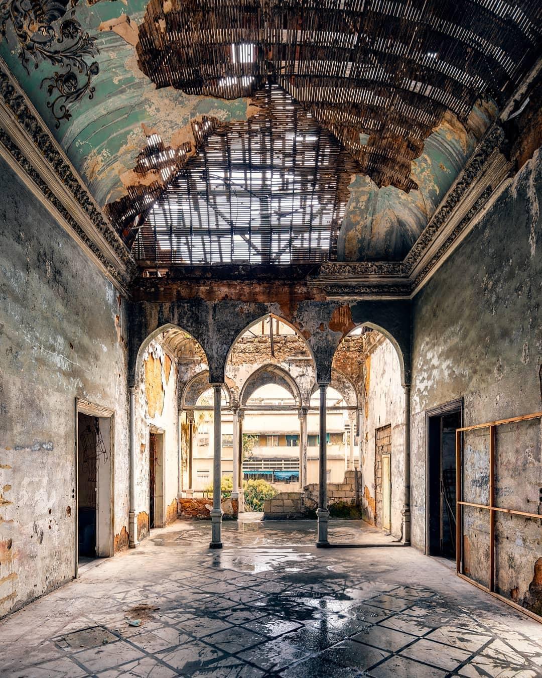 Première photographie des trois arcades James Kerwin  Beyrouth