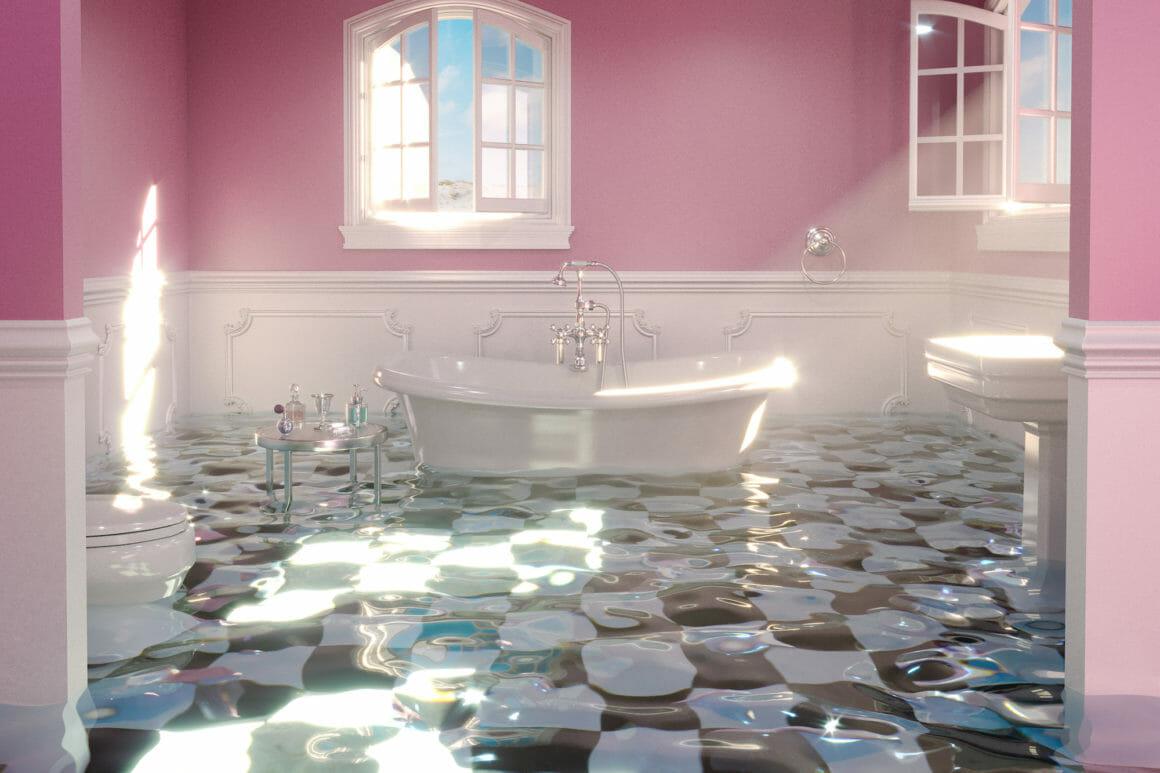Hayden Williams World Underwater Small Bathroom