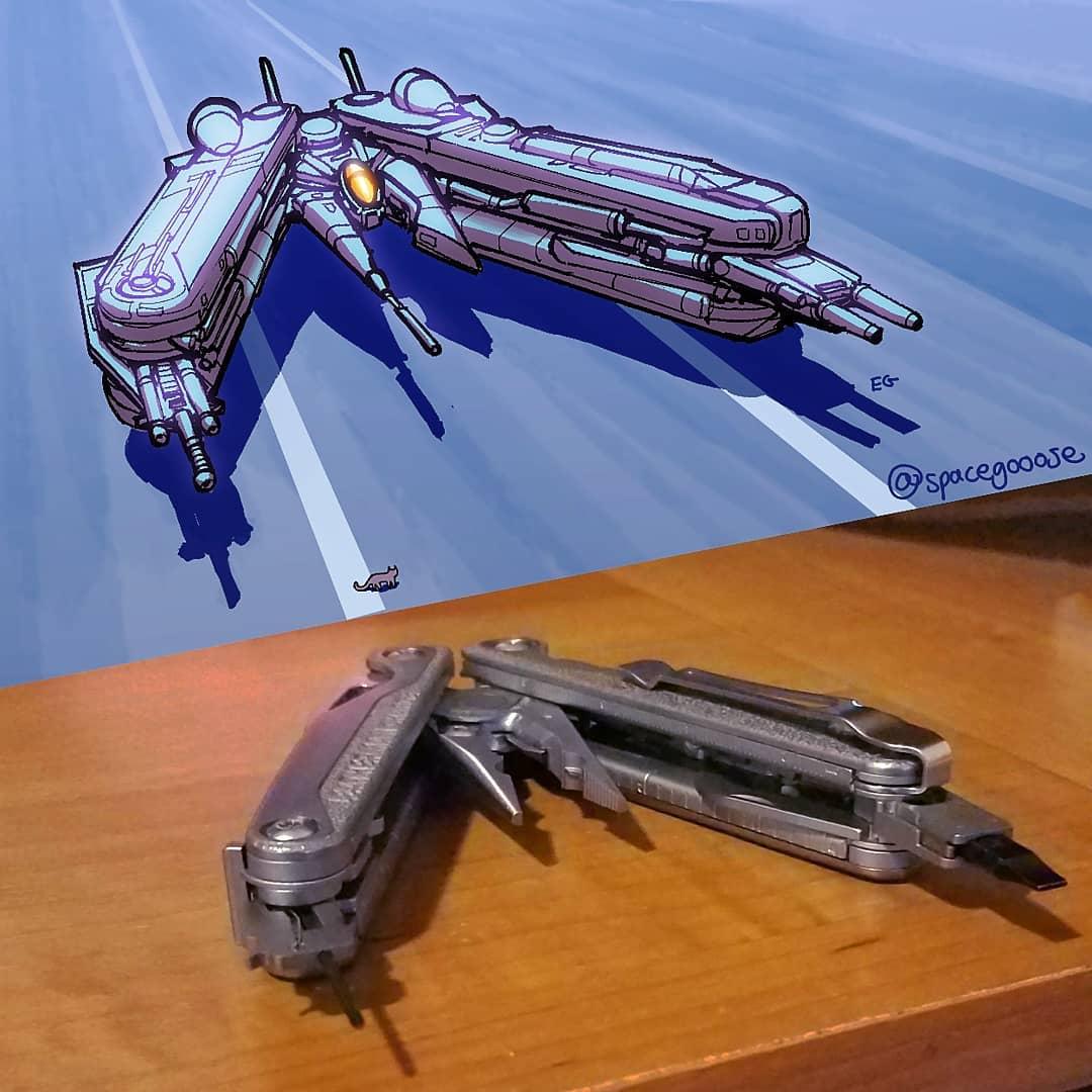 """couteau suisse Eric Geusz alias """"SpaceGoose"""