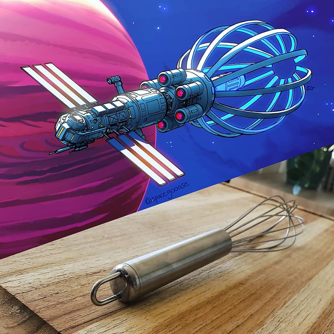 Fouet en spatial vaisseau