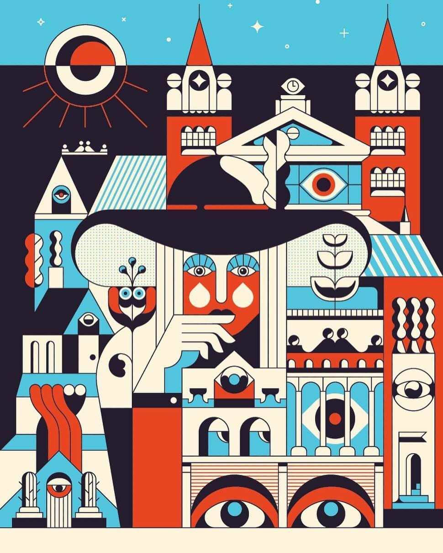 Calvin Sprague illustrateur et graphic designer Heavy Eyes