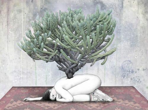 femme au cactus