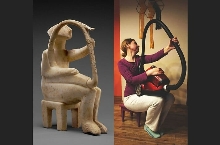 Male Harp Player of the Early Spedos type