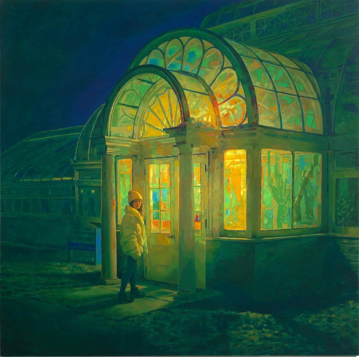 peinture nuit Midnight Garden