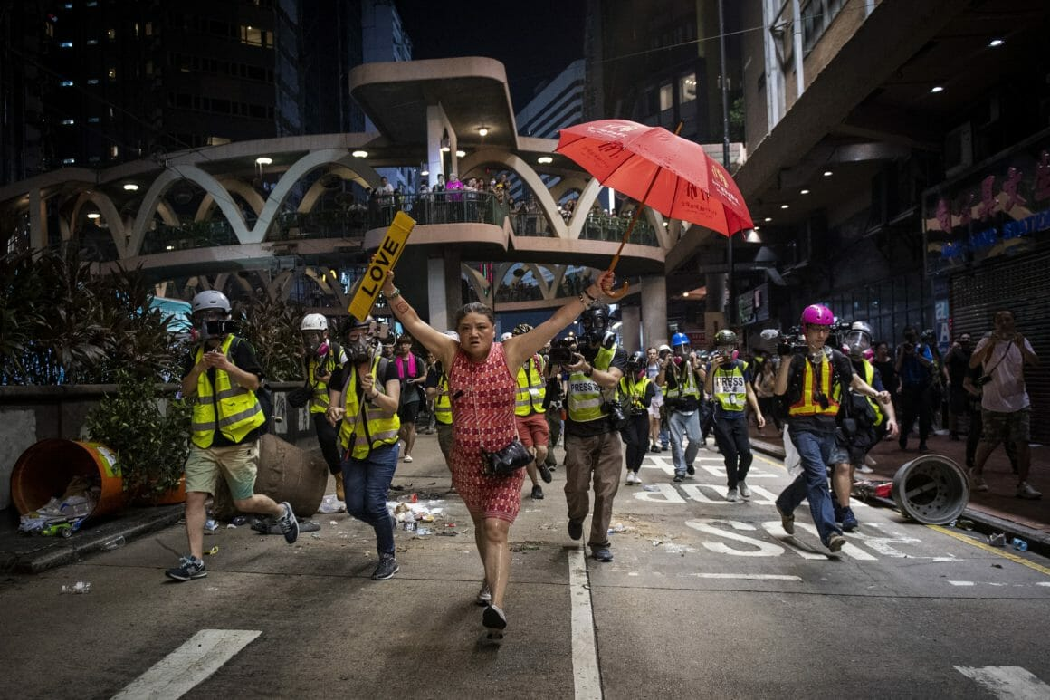 Cliché de Nicolas Asfouri pris lors des manifestations à Hong-Kong en octobre 2019. Nicolas Asfouri / AFP