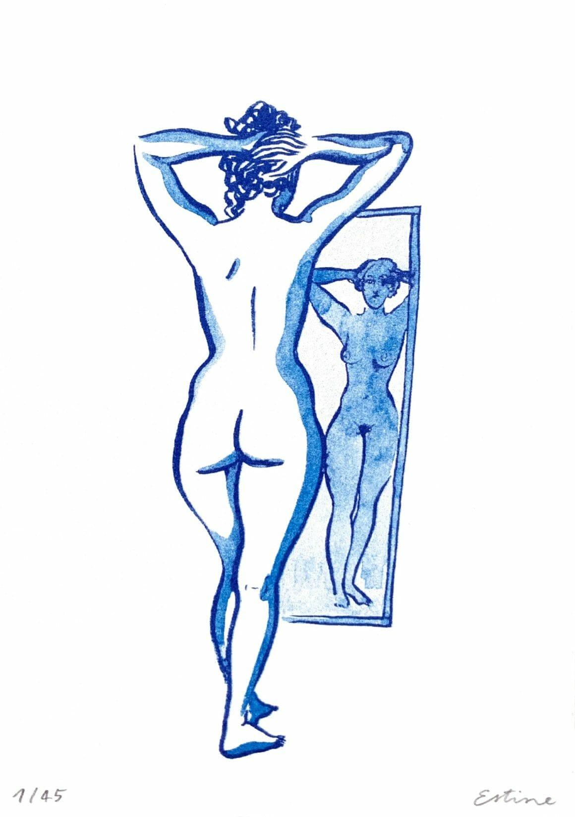 femme reflet dans un miroir