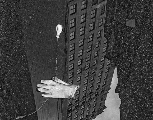 photographie Steve Geer de la série discarted gants et ballon