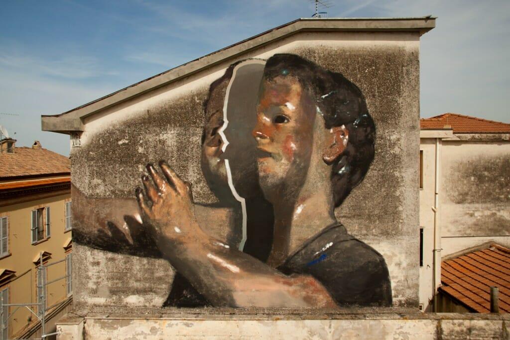 Mosciano oeuvre art urbain Axel Void