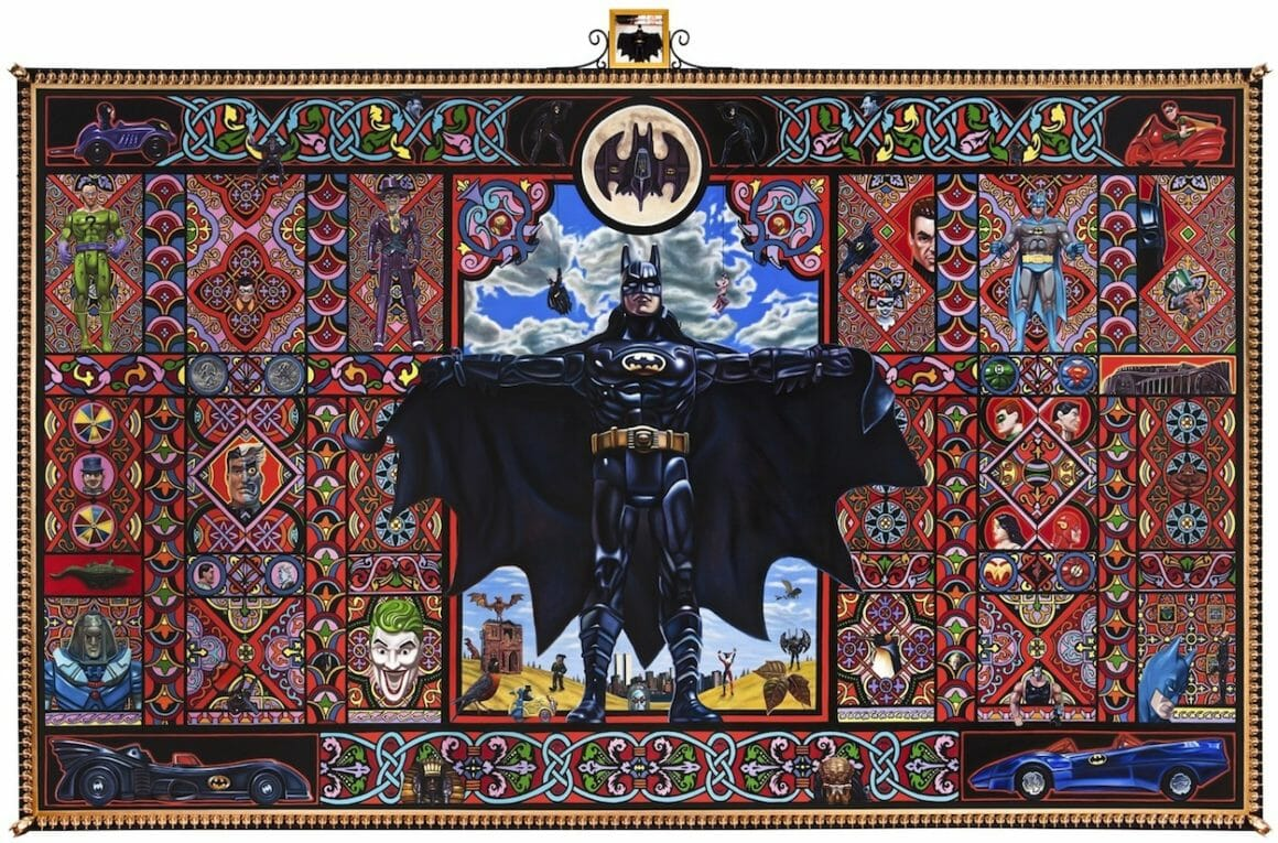 Batman peinture à l'huile par Robert Burden