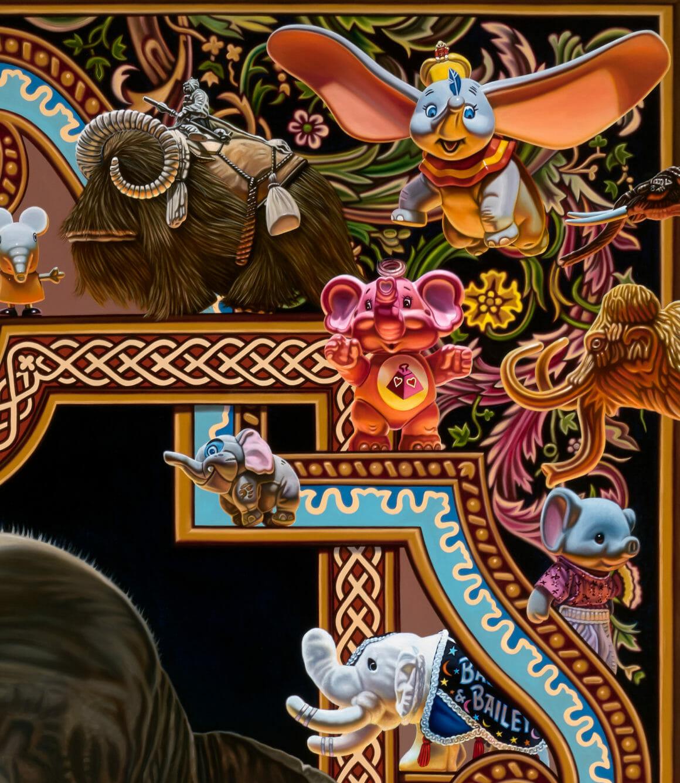 Elephantidae peinture par Robert Burden