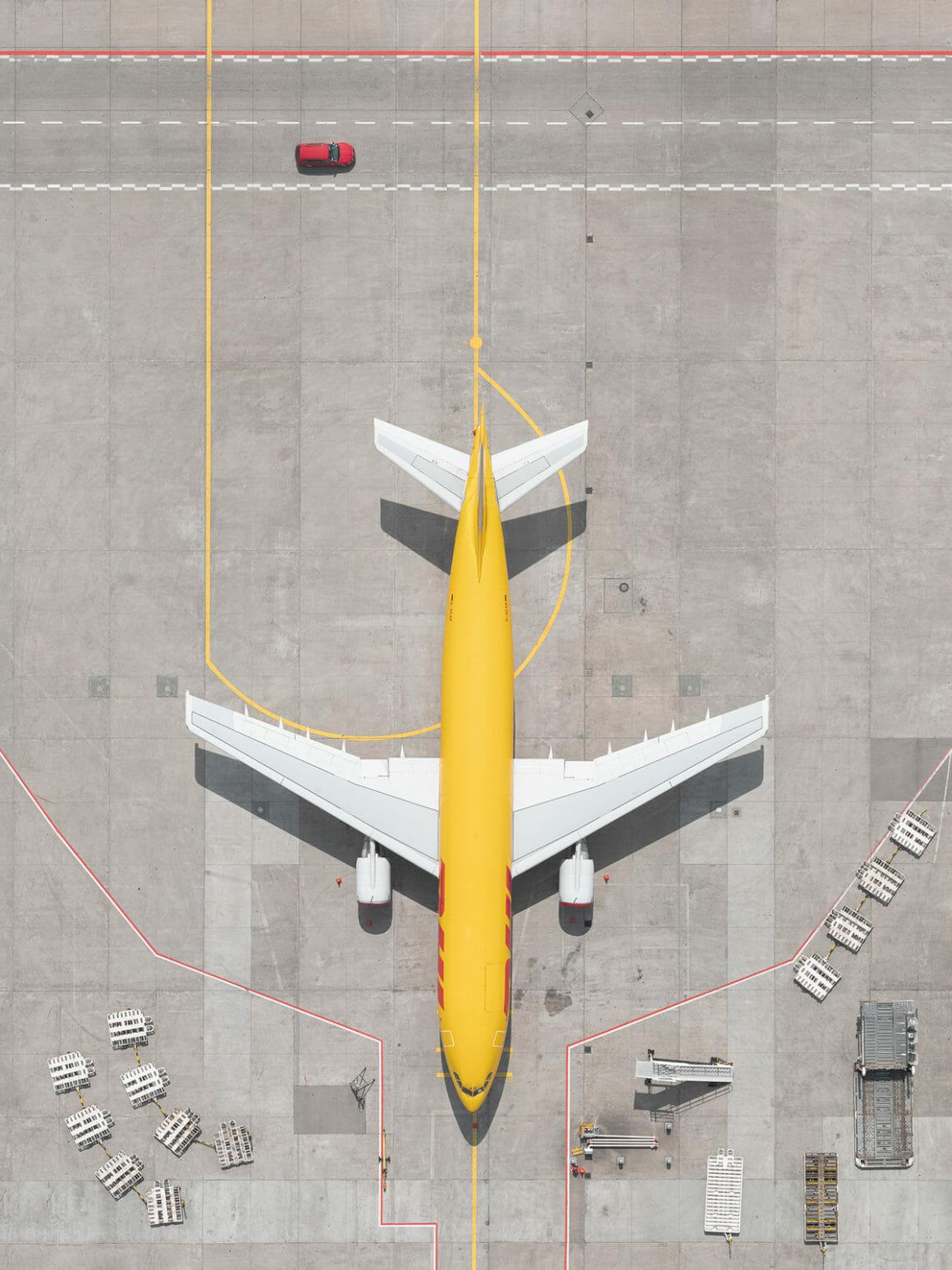 plan rapproché avion  dhl