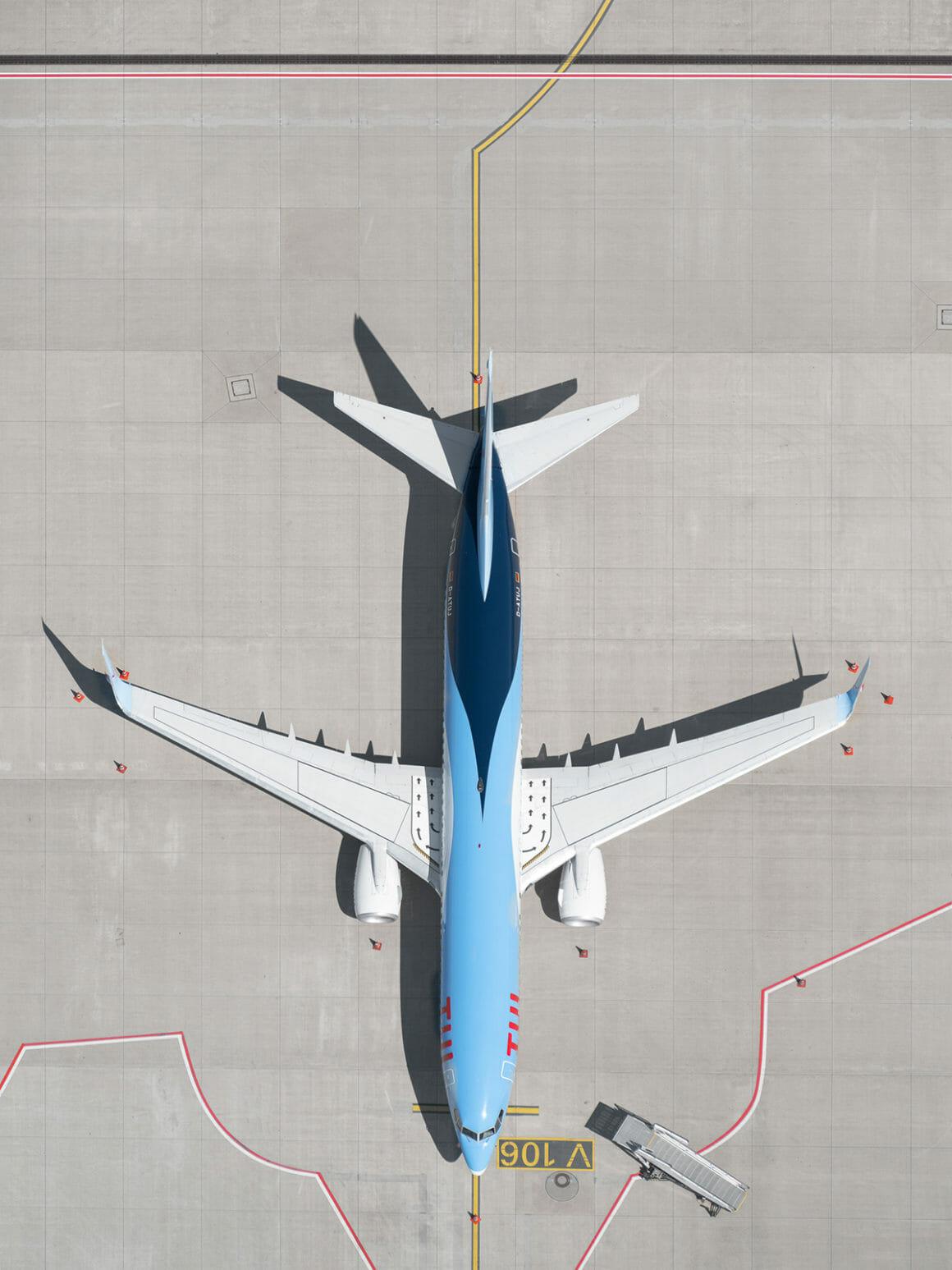 plan rapproché avion