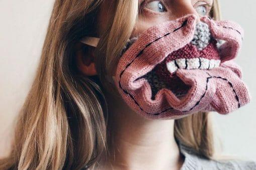 masque de protection tricoté
