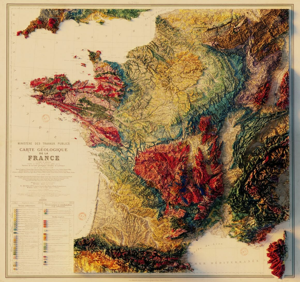 carte geologique de la france en 3d Orthophotographie