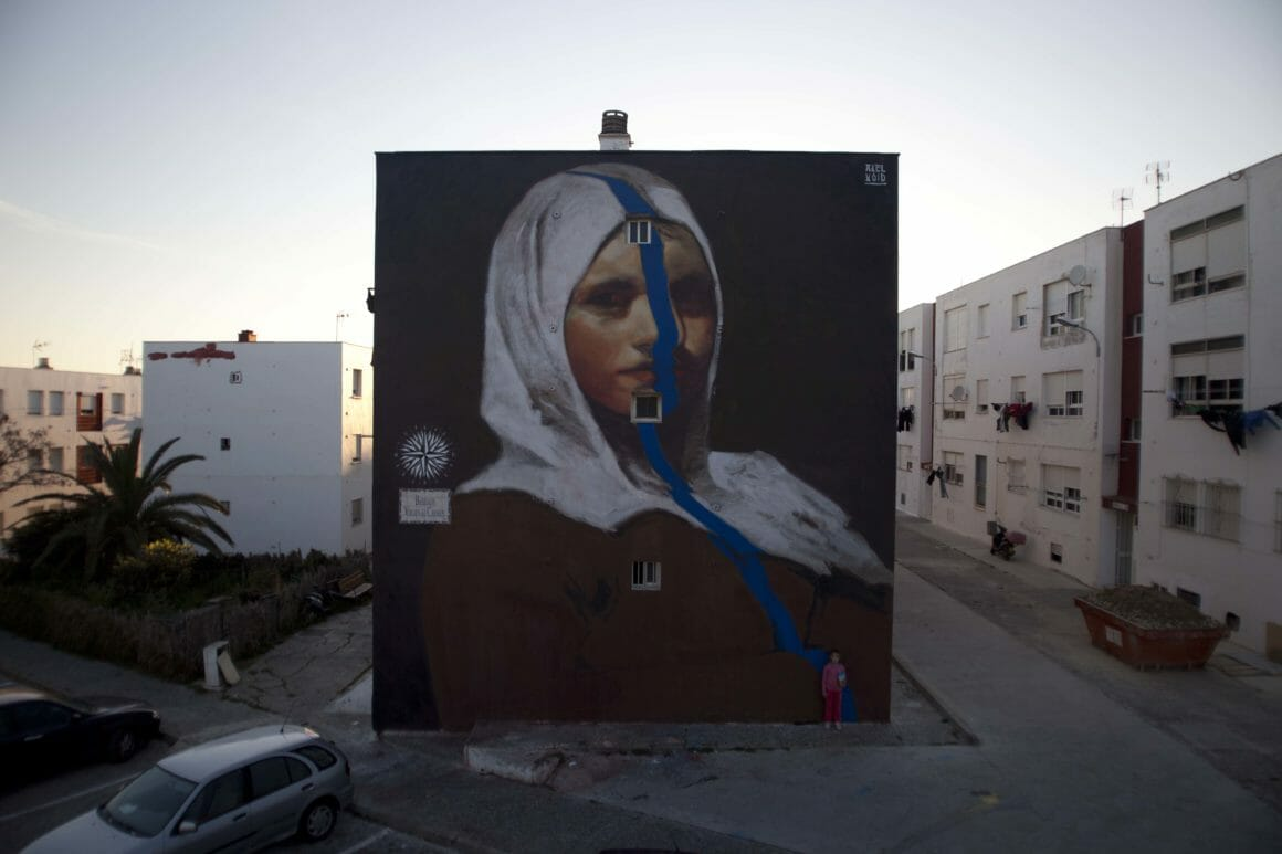 peinture, murale de street art par Axel Void