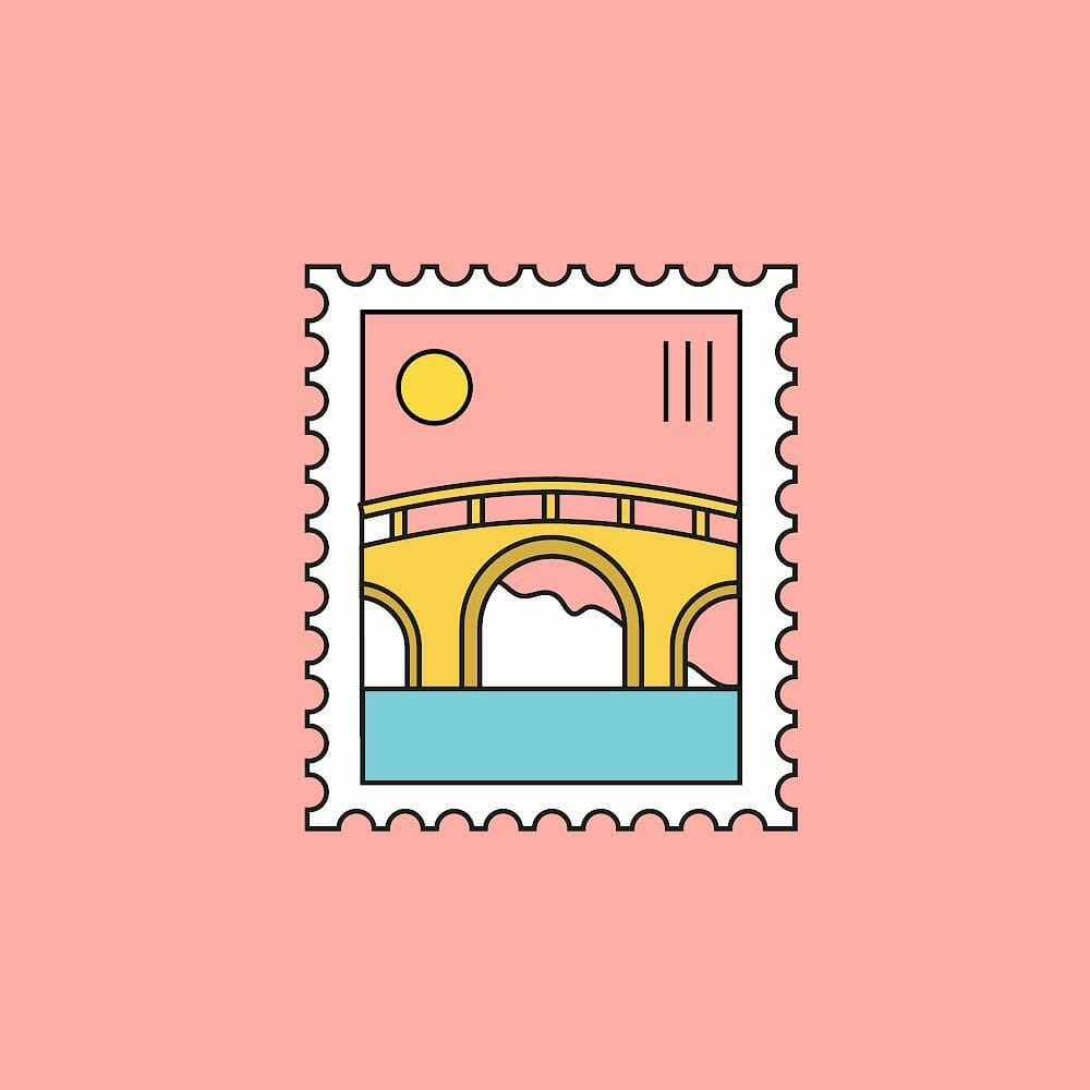 Amsterdam stamp for AWWWARDS 2019 CONFERENCES. A visual universe and interactive identity inspired by two cities.