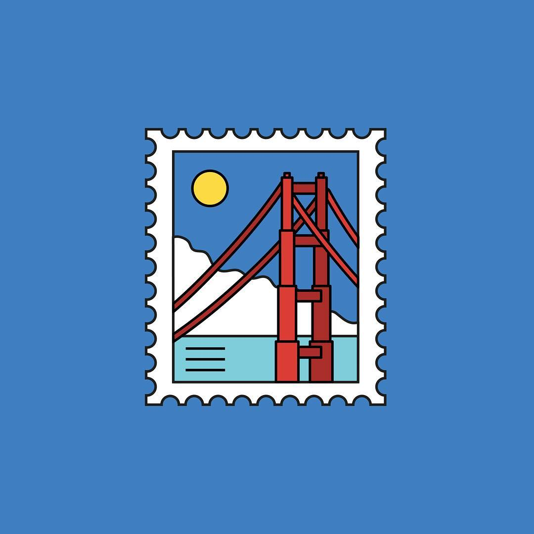 San Francisco stamp for AWWWARDS 2019 CONFERENCES. A visual universe and interactive identity inspired by two cities.