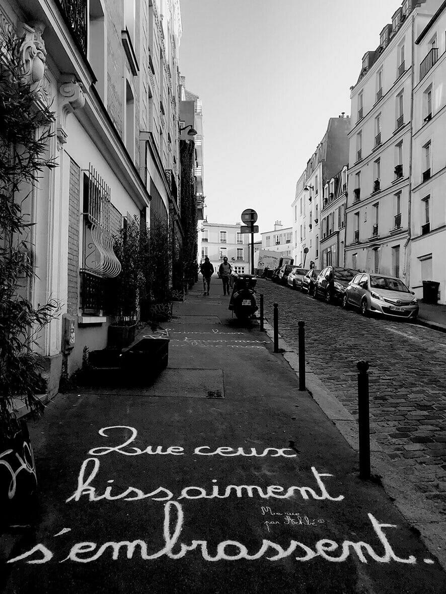 Ma rue par Achbé écriture