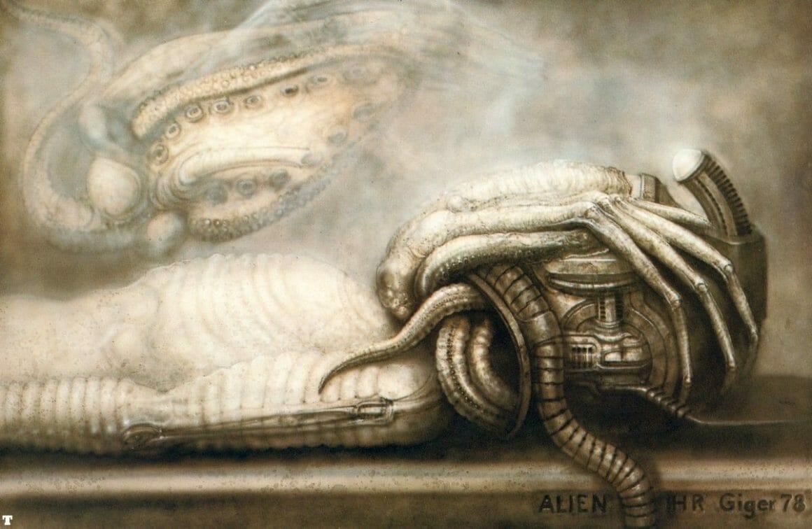 illustration réalisée par l'artiste suisse H.R Giger pour le premier film Alien