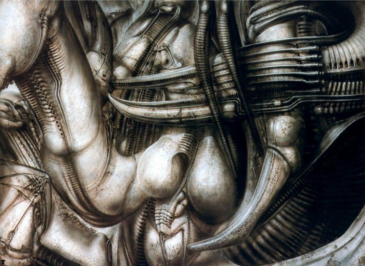 peinture réalisée par le peintre suisse H.R Giger
