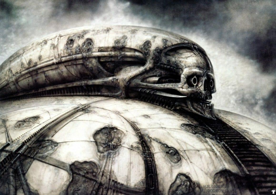 illustration réalisée par H.R Giger pour le film Dune