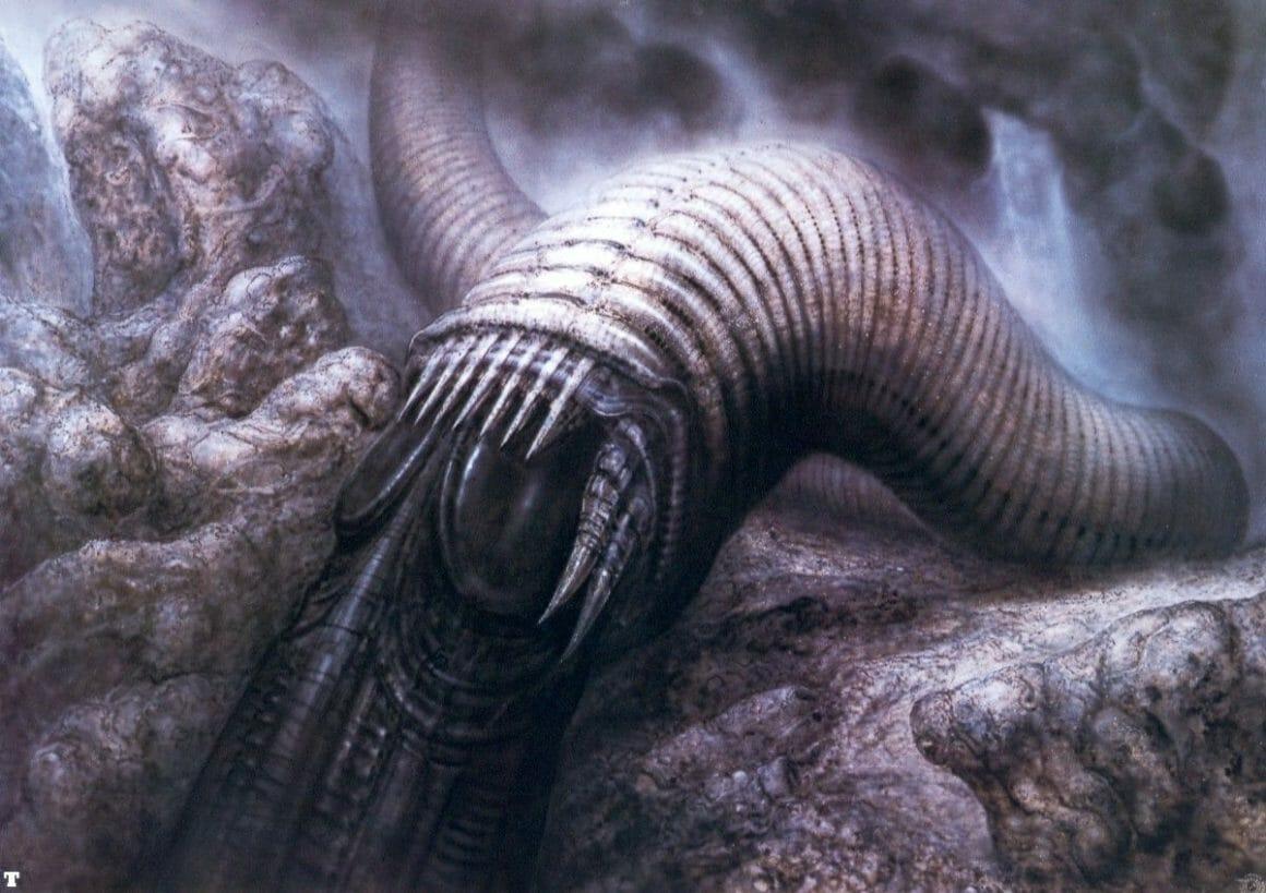 illustration réalisée par l'artistes suisse H.R Giger pour le film Dune