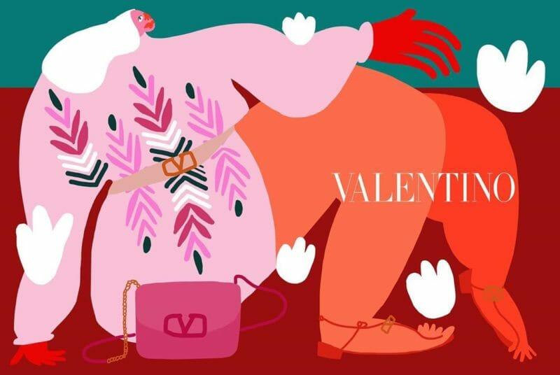 femme visuel valentino