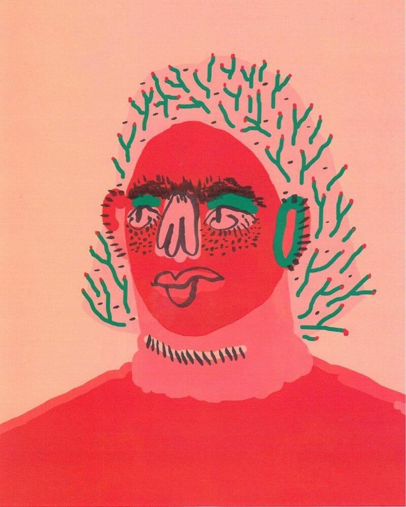 Illustration de femme avec des branches à la place des cheveux