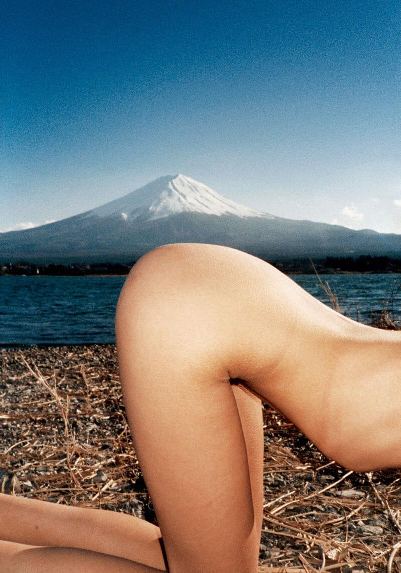 arrière femme fesses côtés montagne second plan