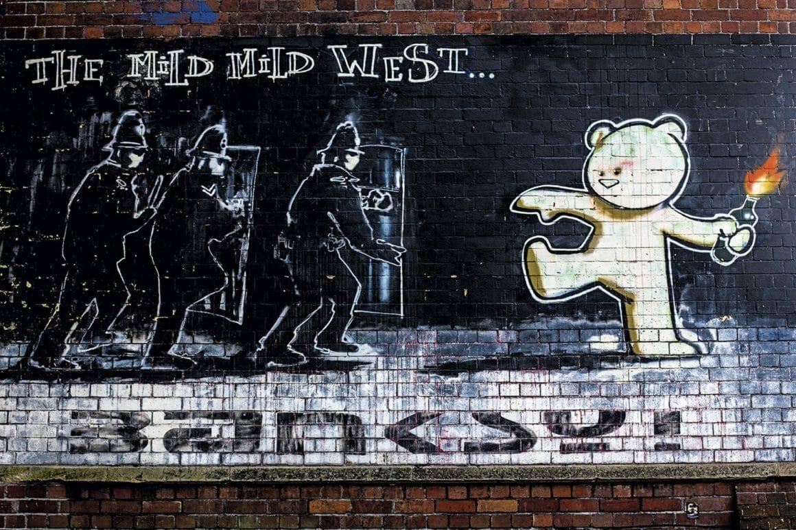 Fresque murale The Mild Mild West