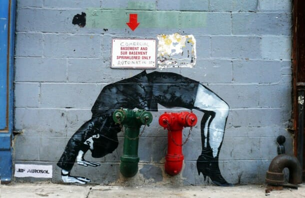 jef aérosol street art figure
