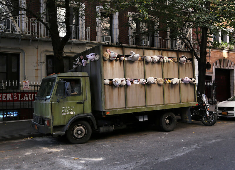 camion peluches banksy