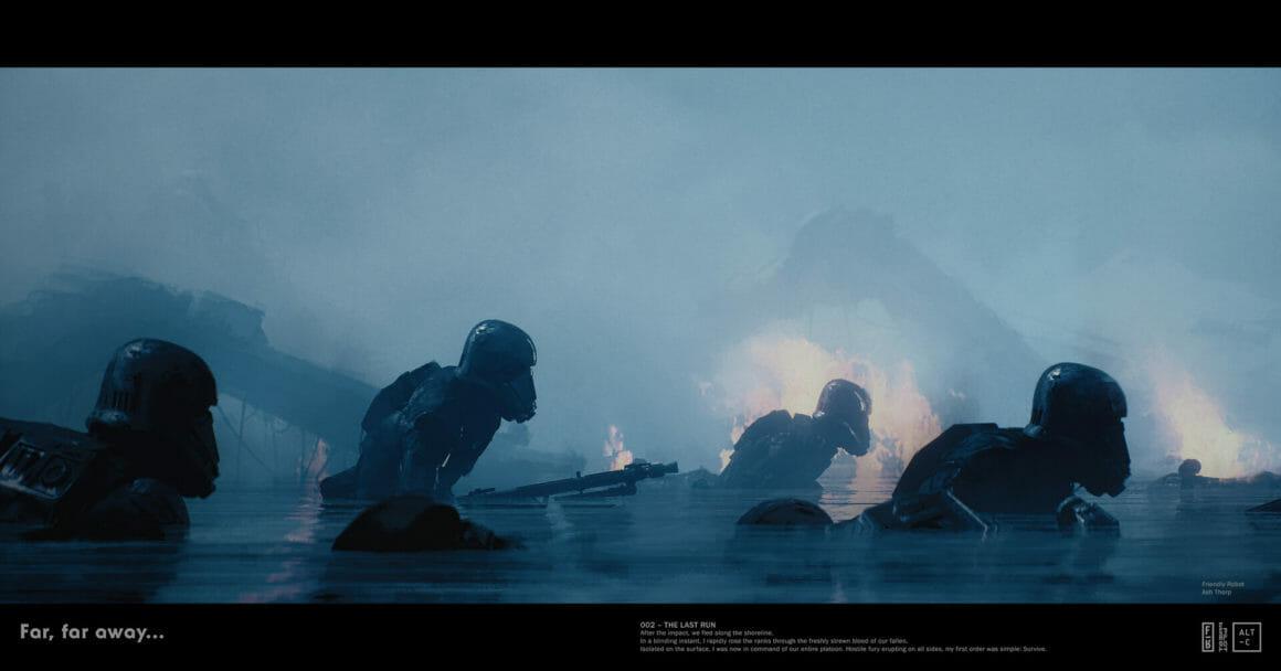 stormtroopers star wars obscur force eau feu guerre far far away