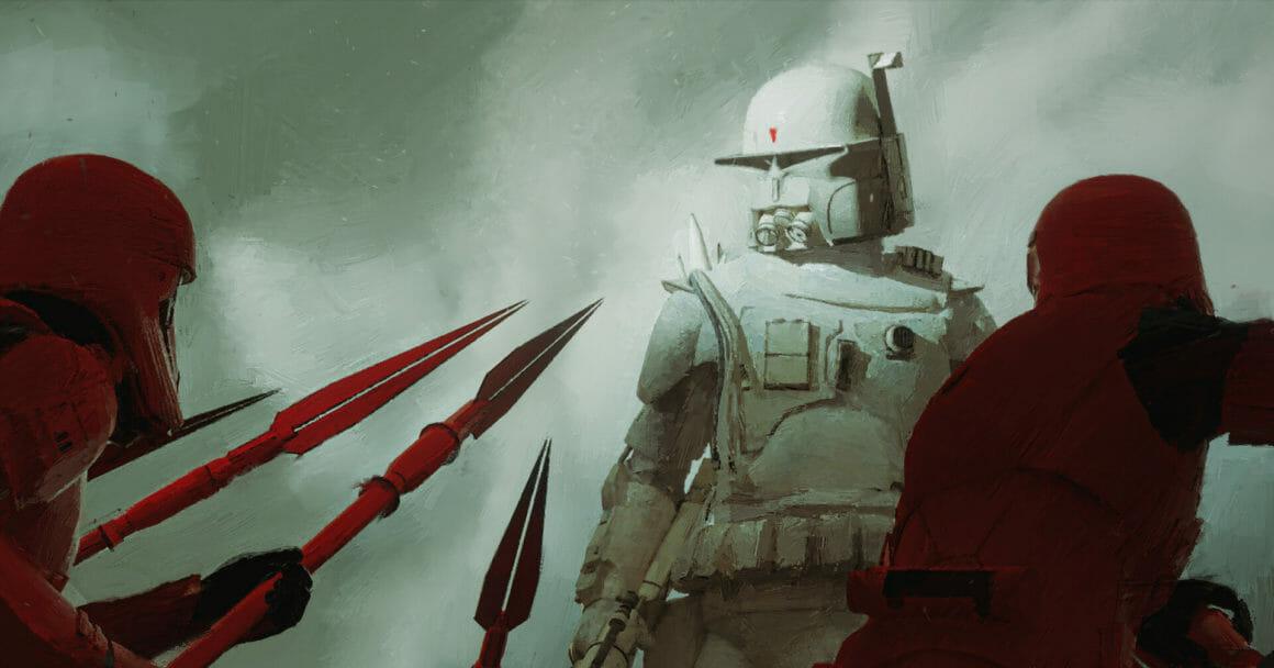 soldat stormtrooper contre soldats empire combinaison armure rouge 3ème trilogie star wars