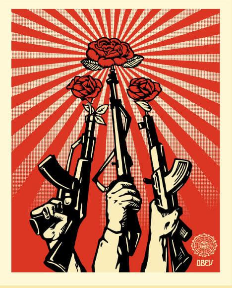 Giant Obey portrait d'un artiste politique mondialement connu 2