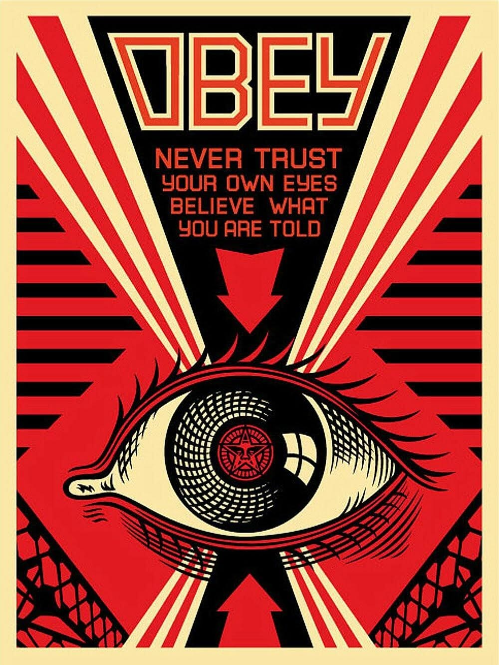 inspiration 1984 propagande oeil big brother rouge