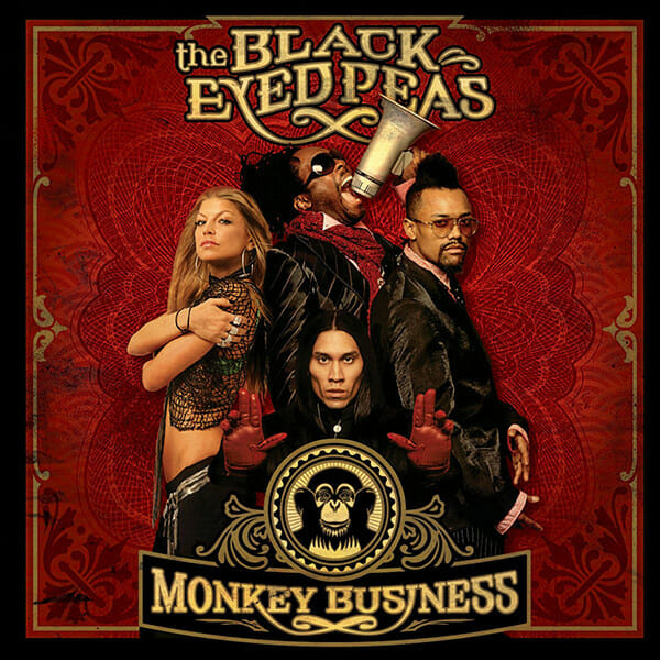 pochette album monjey business black eyed peas rouge or
